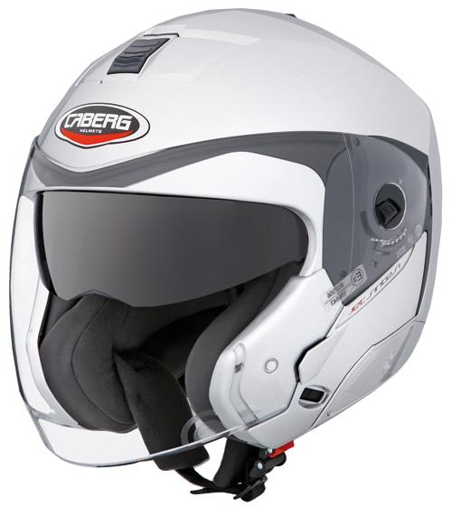 Casco moto Caberg Jet Sintesi argento