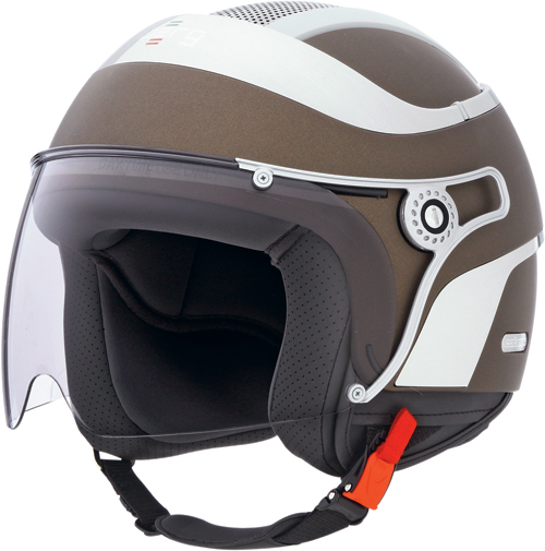 Casco moto Caberg Jet Uno matt chocolate