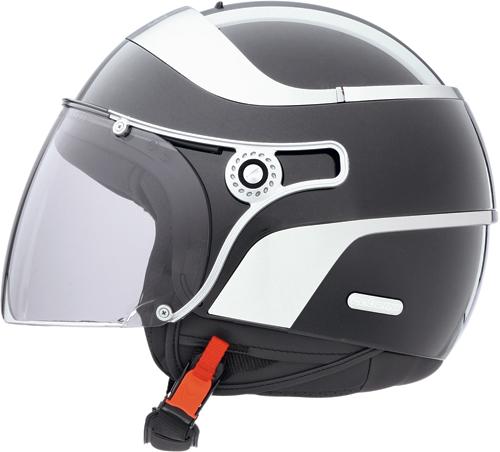 Casco moto Caberg Jet Uno nero lucido