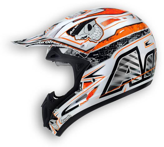 Casco moto off road Airoh Jumper Mister X arancio lucido
