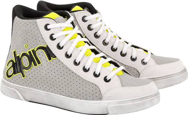 Alpinestars Joey Perforated shoes white-gray-yellow fluo