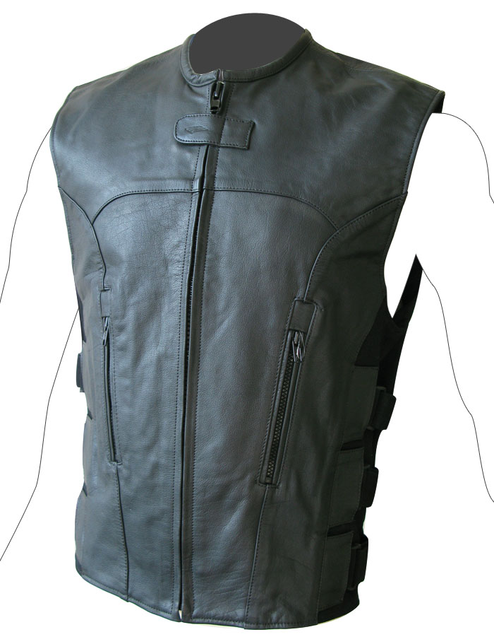 Custom leather vest Befast Teseo