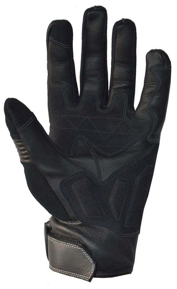 Gloves Summer Florenz Befast leather and fabric touch screen