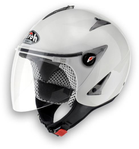 Casco moto Urban Jet Airoh JT Color bianco lucido