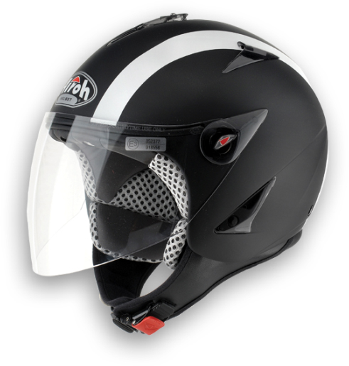 Casco moto Urban Jet Airoh JT Bicolor nero opaco