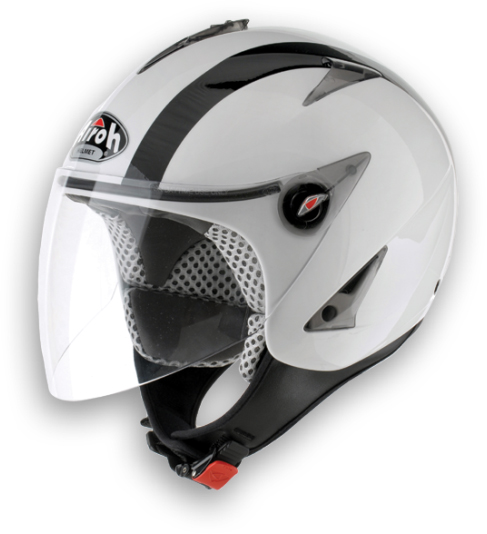 Casco moto Urban Jet Airoh JT Bicolor bianco lucido