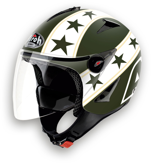 Airoh JT General urban jet helmet green matt