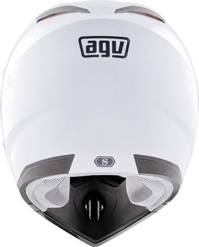 Casco moto cross Agv MT-X Junior Mono bianco