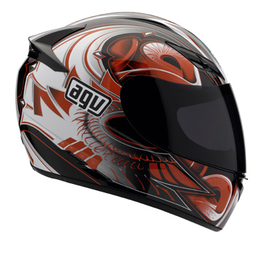 AGV K-3 Multi Bat Full Face Helmet - Col. Black/Red