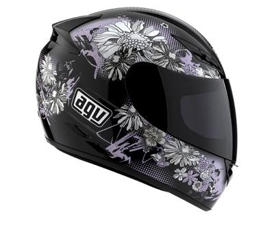 AGV K-3 Multi Fleurs Full Face Helmet - Col. Black/Pink