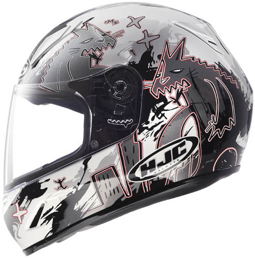Casco moto bambino integrale HJC CLY Katzilla MC10