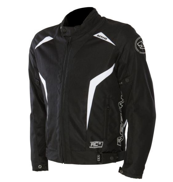 Approved summer motorcycle jacket Bering Keers Black White