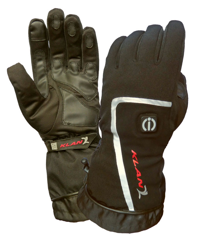 Klan heated motorcycle gloves Infinity-i Black
