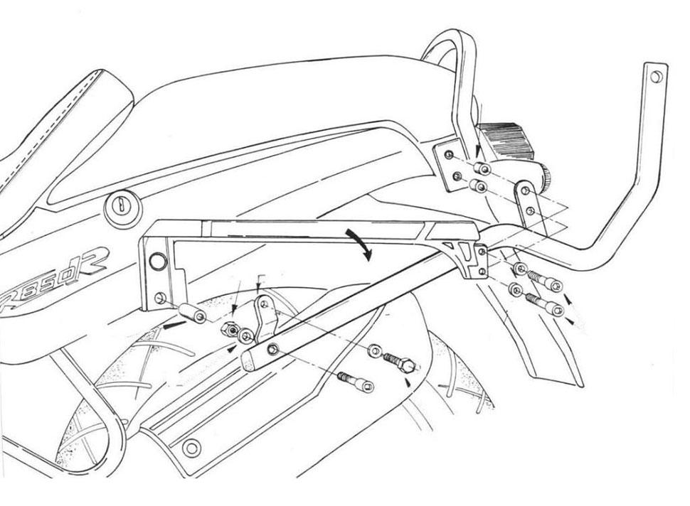 Kit attacchi Kappa per BMW R850 R 95