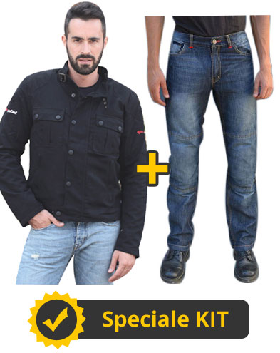 Kit 2N - Giacca Befast Nice + Jeans Nettuno con protezioni