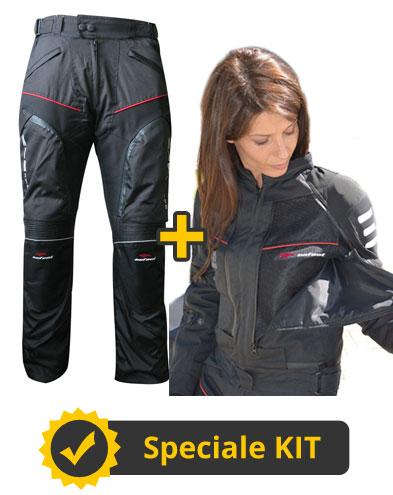 Kit All Season Full Lady - Completo donna 4 Stagioni Giacca All Season + Pantaloni Multiforce Nero