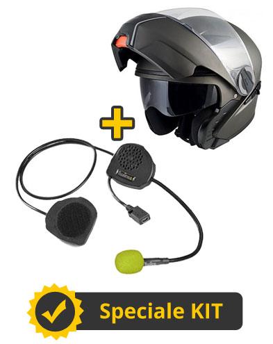 Kit D3 - Casco modulare Singapore + Interfono Twiins senza centralina