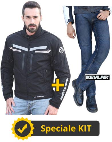 Kit DaniGTX - Giacca touring GTX + Jeans con Kevlar e protezioni