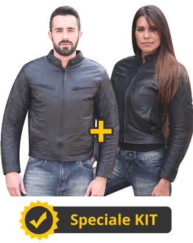 Kit Helberts - Giacca moto pelle uomo + Giacca moto pelle donna - Befast Helbert