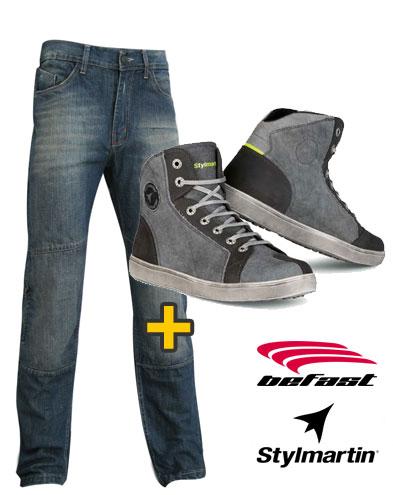 Kit Infinity Sunset - Jeans moto Infinity + Scarpe moto Sunset