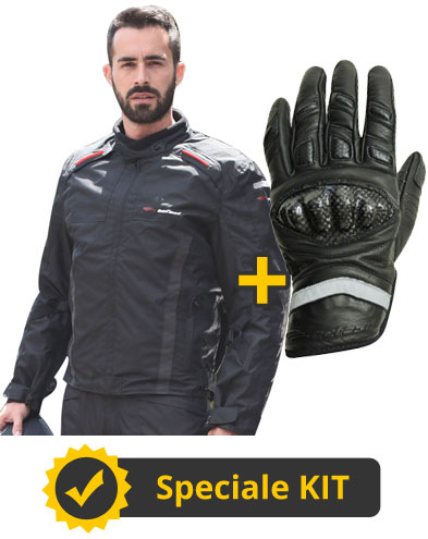 Kit Orion - Giacca 4 stagioni + Guanti in pelle