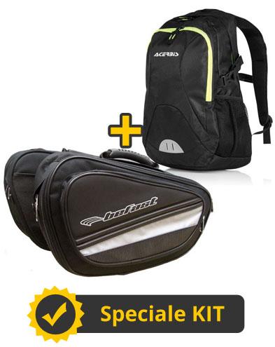 Kit Trip - Coppia borse laterali 40 litri + Zaino 20 litri