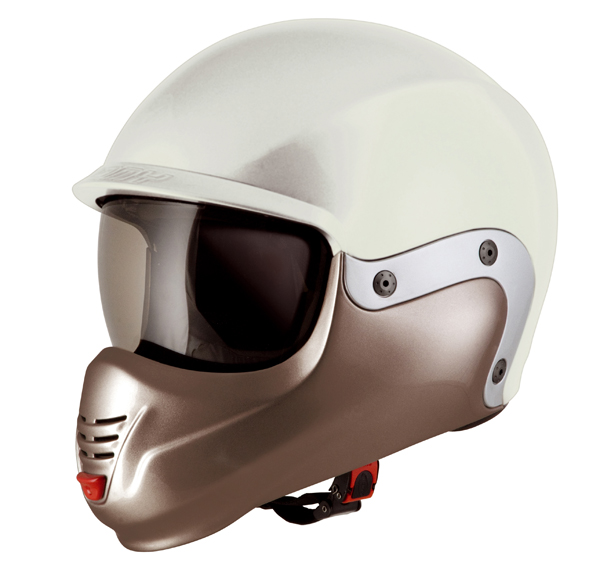 Suomy 3LOGY chin guard brown