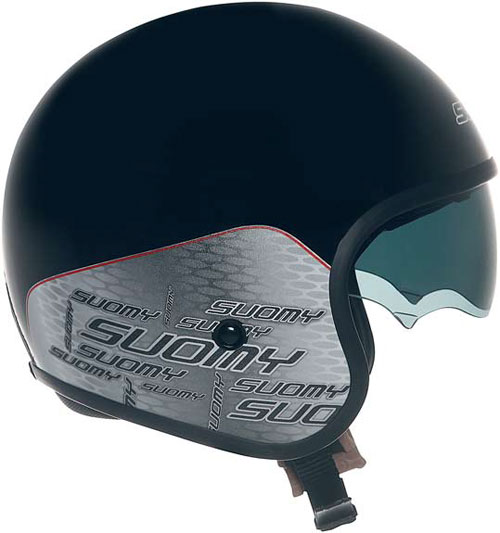 Suomy Jet 70's Home Black jet helmet