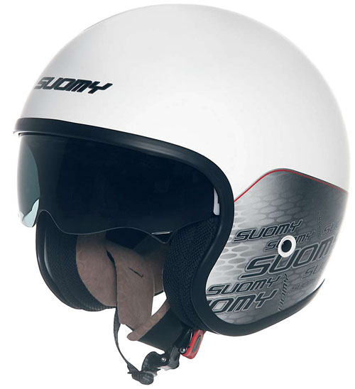 Casco moto Suomy JET 70's  Home White