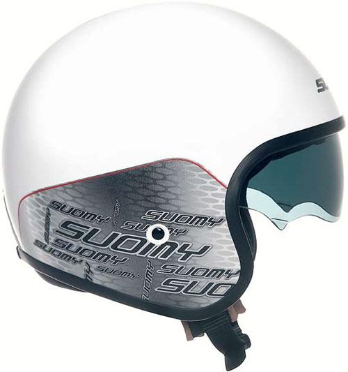 Suomy Jet 70's Home White jet helmet