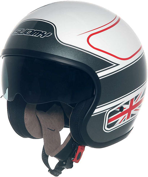 Casco moto Suomy JET 70's UK Flag