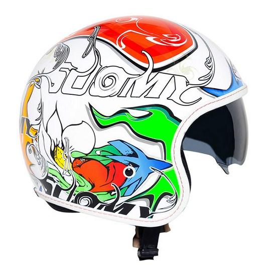 Suomy Jet 70's White Drake jet helmet