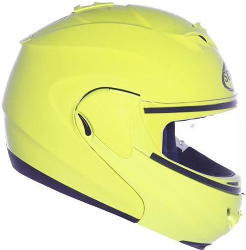 Casco moto modulare Suomy D20 Plain giallo fluo