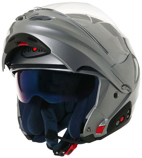 SUOMY D20 + SCS Plain open-face helmet  silver