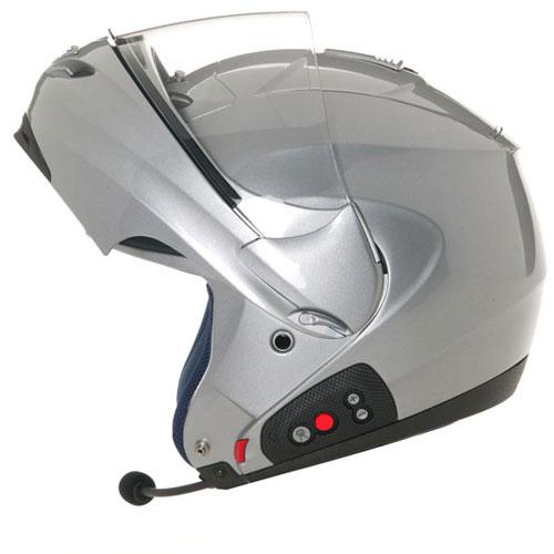 Casco moto modulare Suomy D20 + SCS Plain argento
