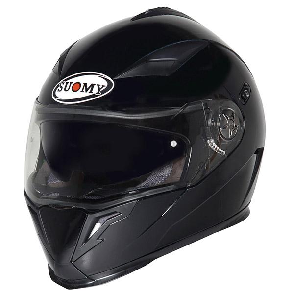 Casco moto integrale Suomy Halo Plain nero