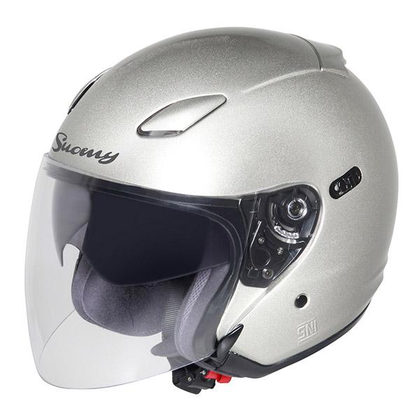 Casco moto jet Suomy Inc-State silver