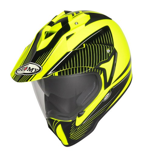 Suomy MX Tourer Special yellow-black enduro helmet