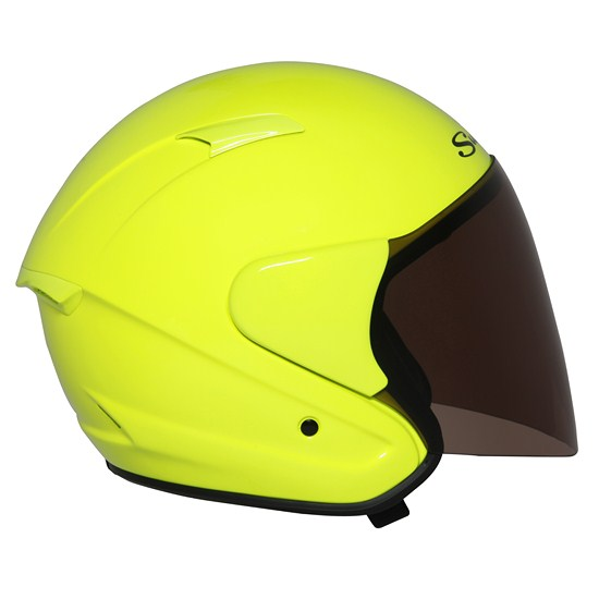 Suomy City Tour jet helmet giallo fluo