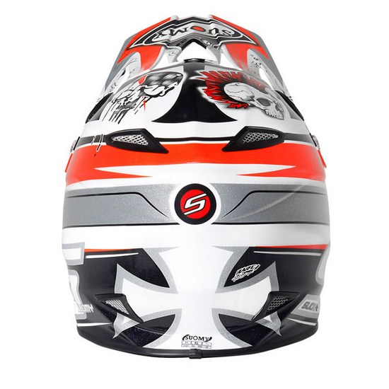 Casco moto cross Suomy MR Jump Lazyboy rosso
