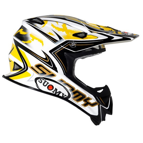 Casco moto cross Suomy MR Jump Catwalk giallo