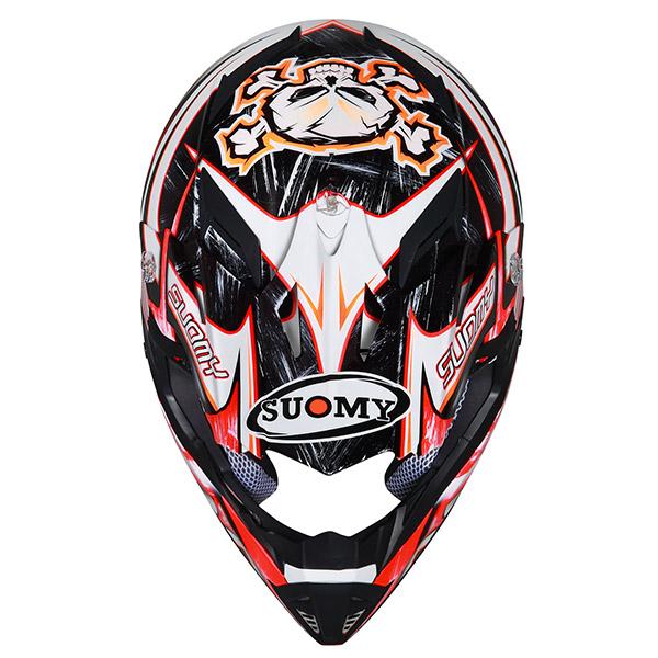 Casco moto cross Suomy Rumble Eclipse rosso