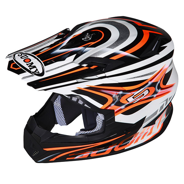 Casco moto cross Suomy Rumble Vision rosso