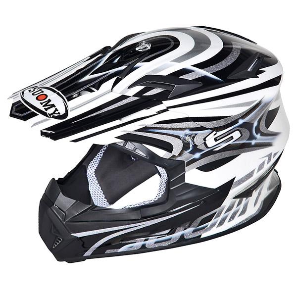 Casco moto cross Suomy Rumble Vision silver