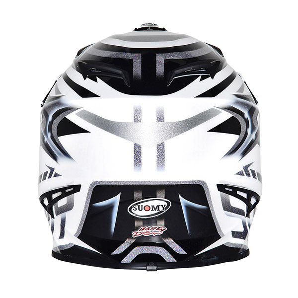 Casco moto cross Suomy Rumble Vision silver