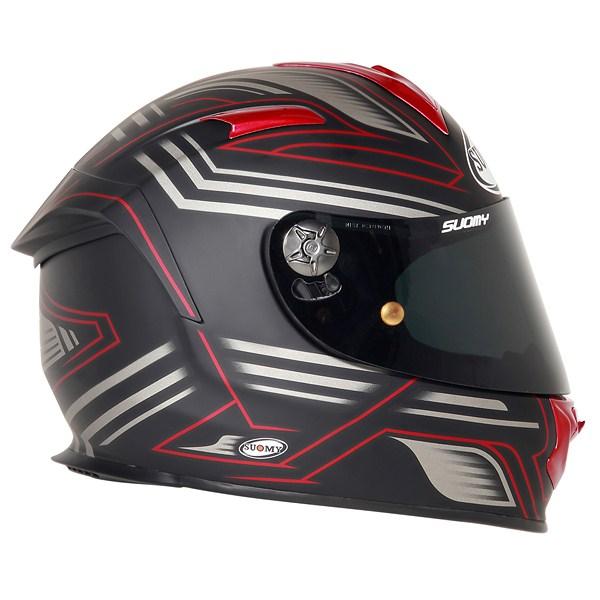Casco moto Suomy SR Sport Racing Matt rosso