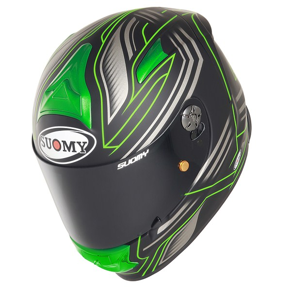 Casco moto Suomy SR Sport Racing Matt verde
