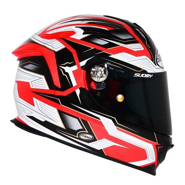 Casco moto Suomy SR Sport Diamond arancio