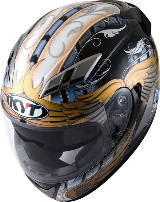 Casco integrale KYT Falcon Angel Blu-oro