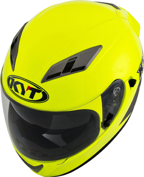 Casco integrale KYT Falcon Plain giallo fluo